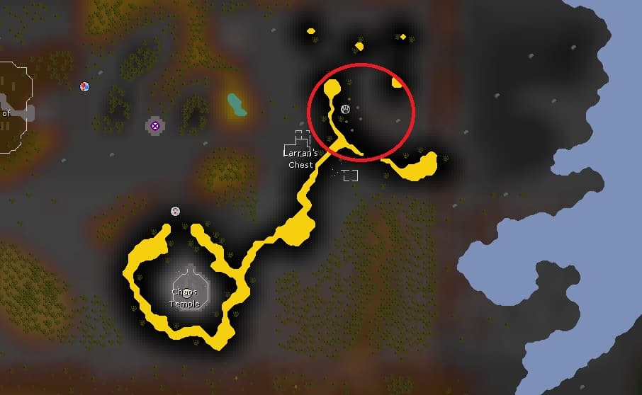 Black Salamander Hunting Location, Old School Runescape