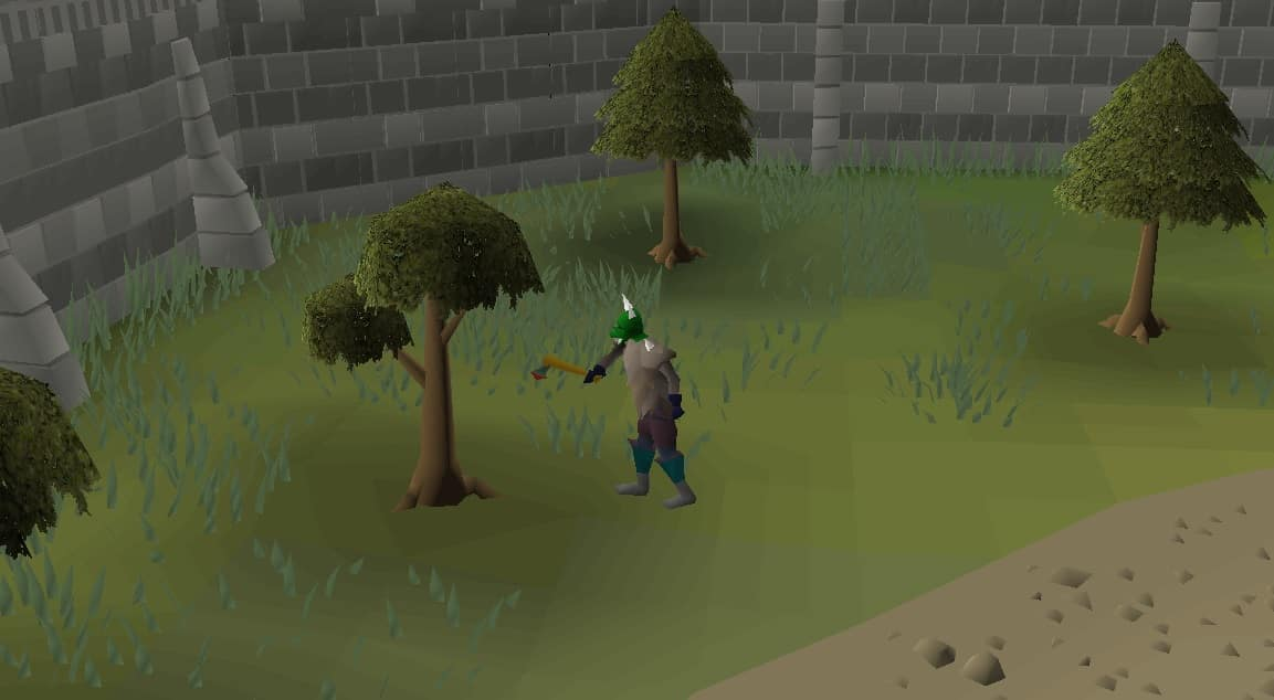 Trees Chopping, Old School Runescape