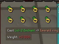 Emerald Rings Enchanting, Old School Runescape
