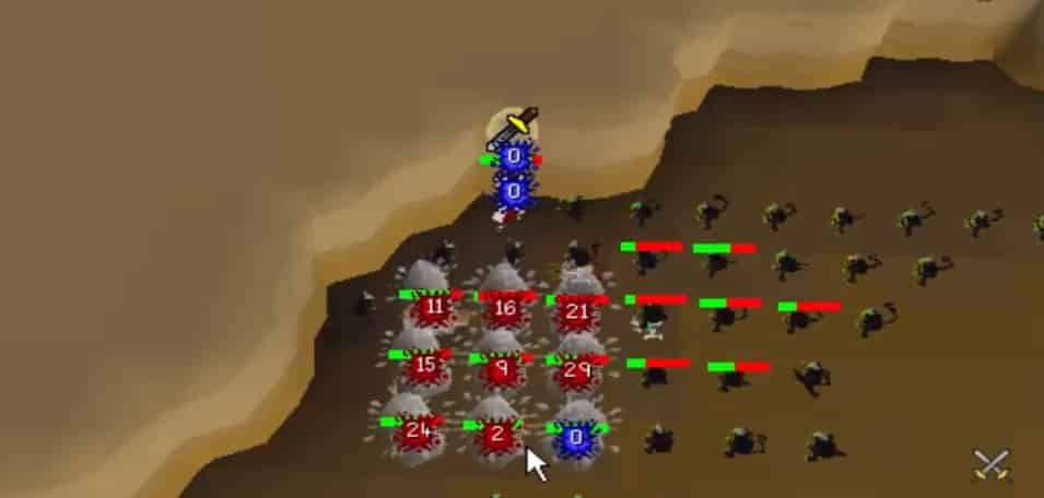 Ice Bursting Maniacal Monkies, MM2 Tunnels, Old School Runescape