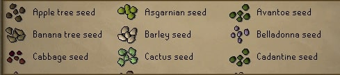 Seeds, Old School Runescape