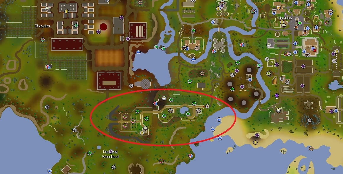 Woodcutting Guild Location, Old School Runescape