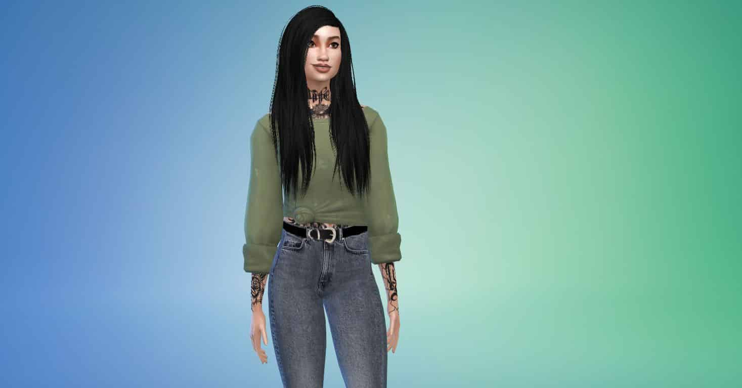 Misery by Stealthic, Custom Hairstyle for Sims 4