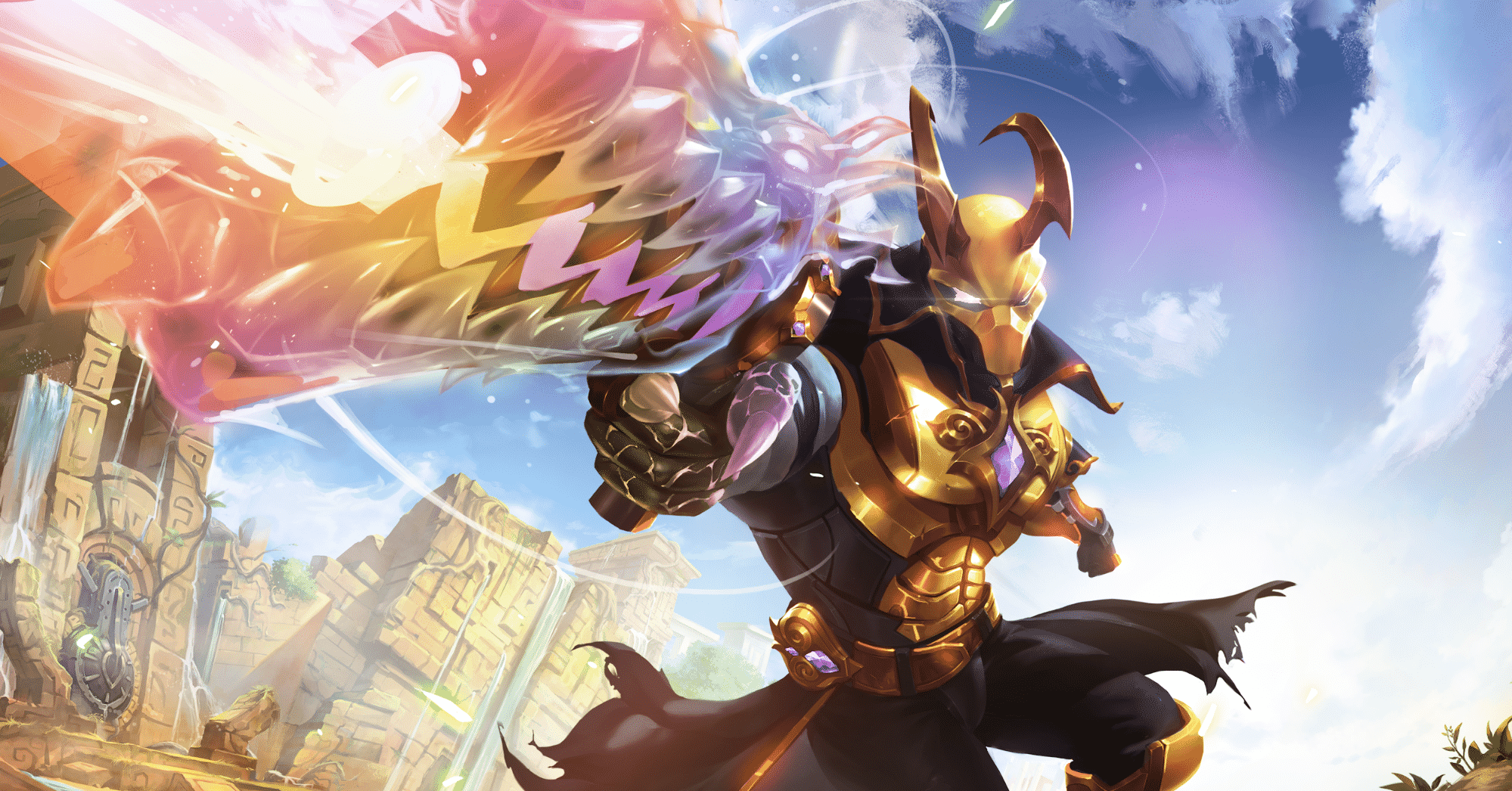 Androxus - The Godslayer, Golden Skin, Paladins (Artwork: u/itayfeder - Source: Reddit)