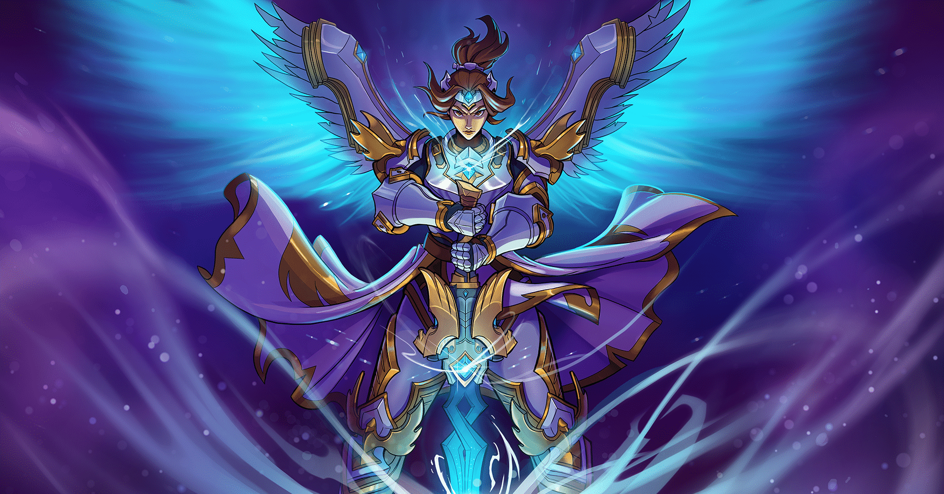 Furia - Angel Of Vengeance, Aurora Skin, Paladins