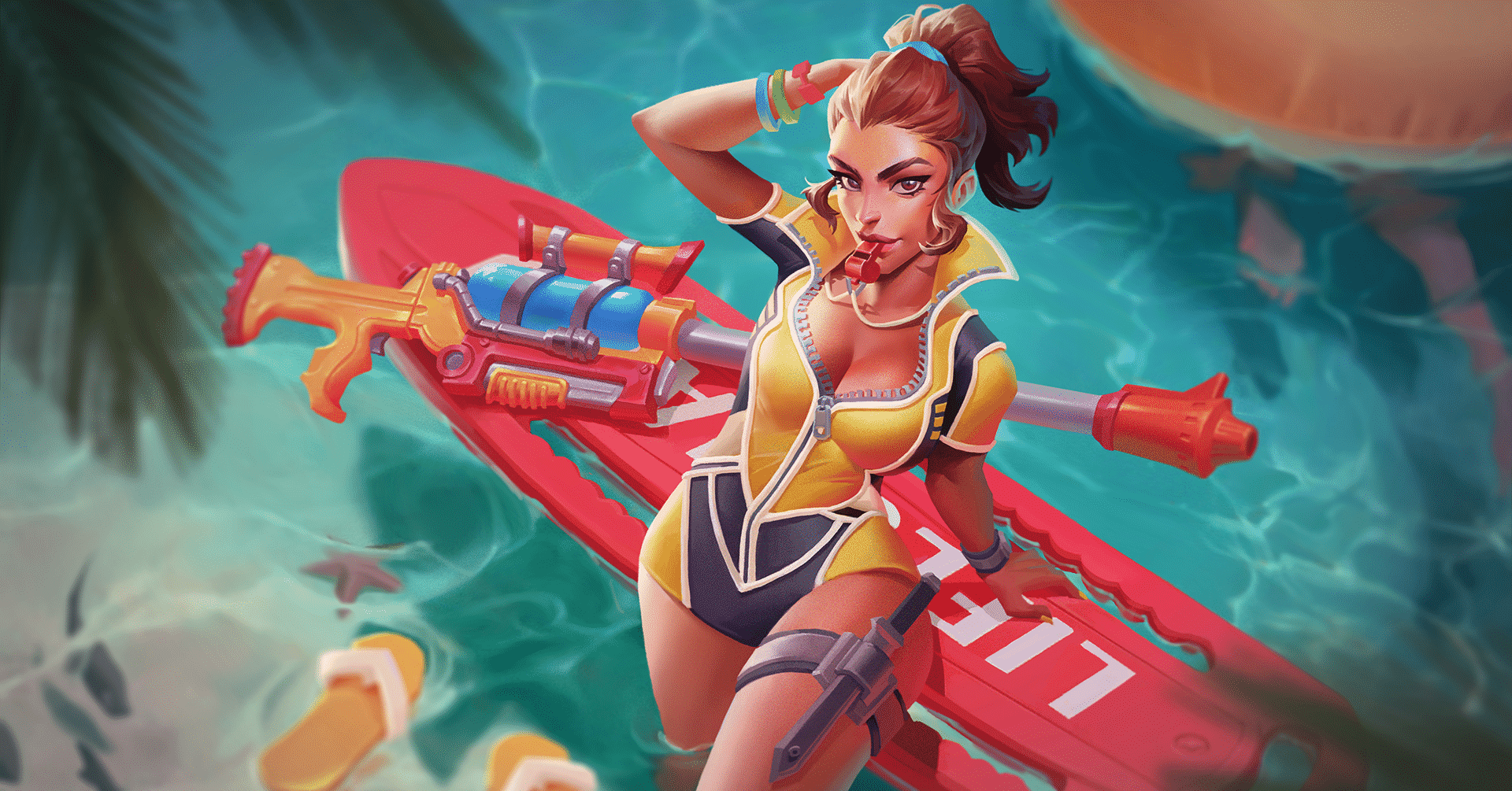 Kinessa - The Bounty Hunter, Shore Patrol Skin, Paladins