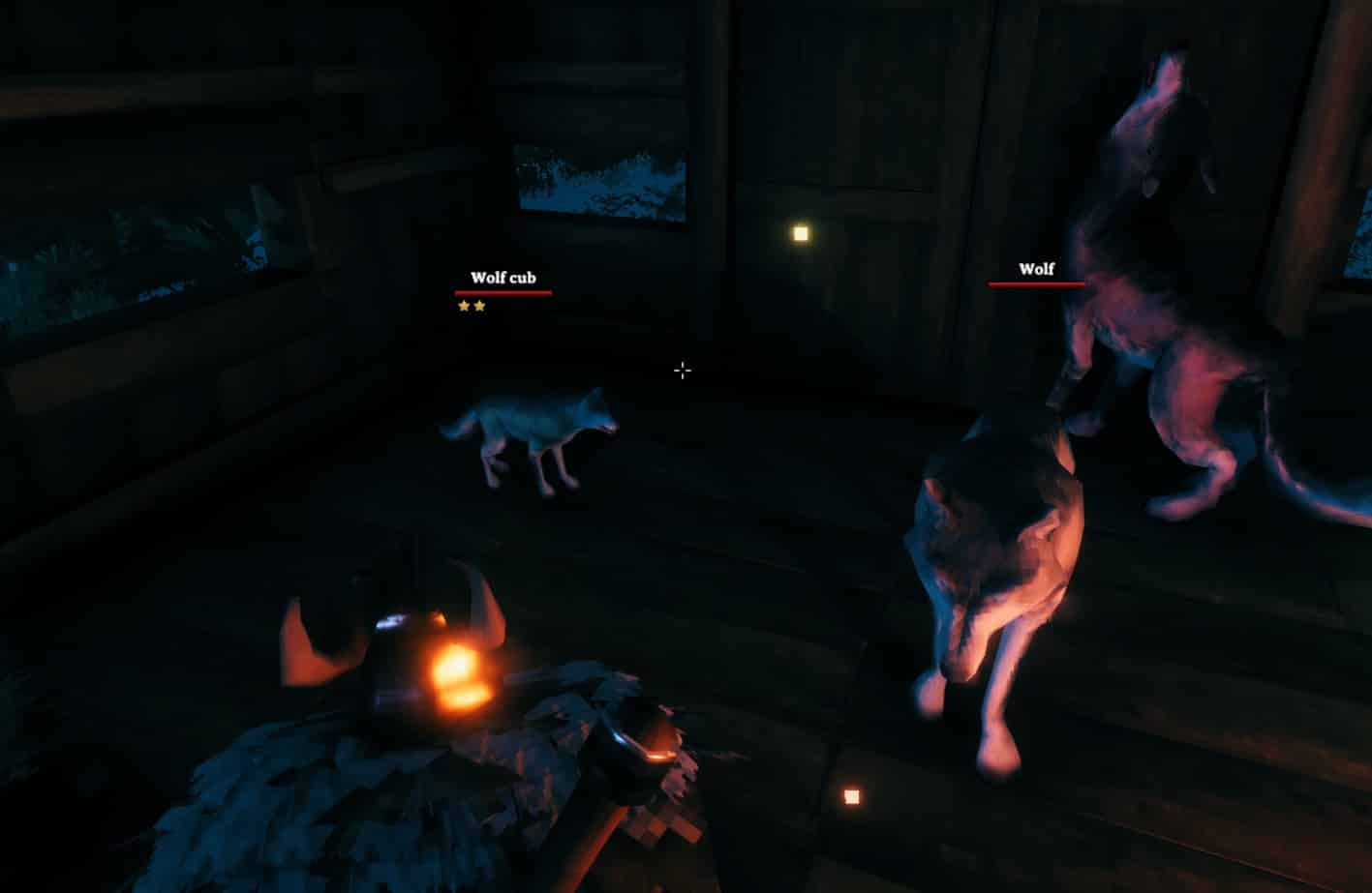 A two starred Wolf Cub and its parents, how cute !, Valheim.