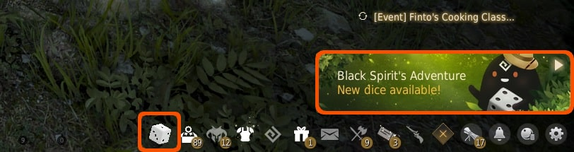 Black Spirit's Adventure New Dice available notification